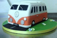 VW van birthday cake