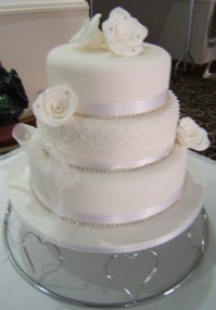 3-Tier Vintage Roses and Pearls