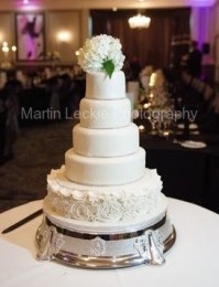 5-tier modern rose design wedding cake
