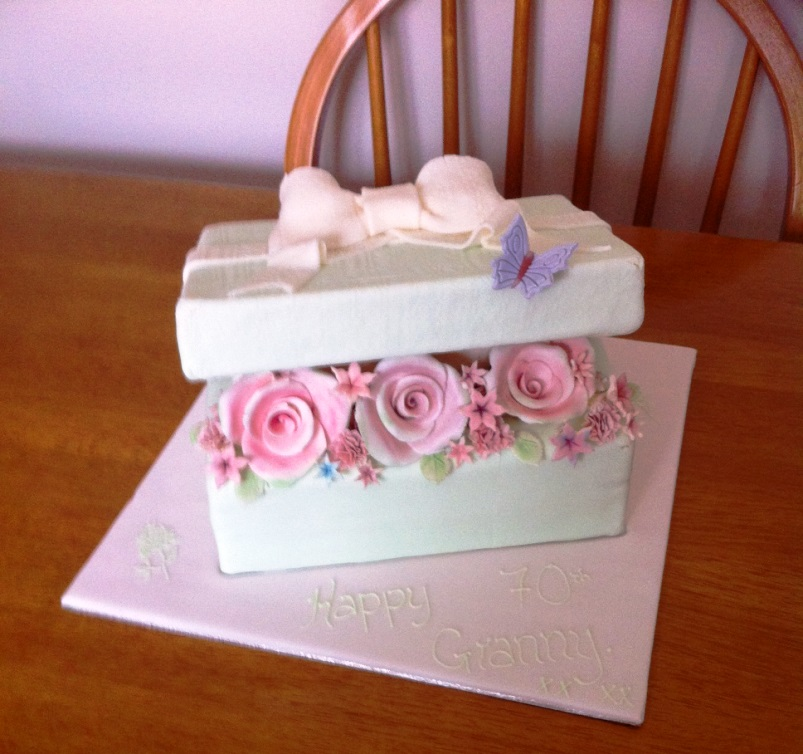 Rose Box Birthday Cake Design